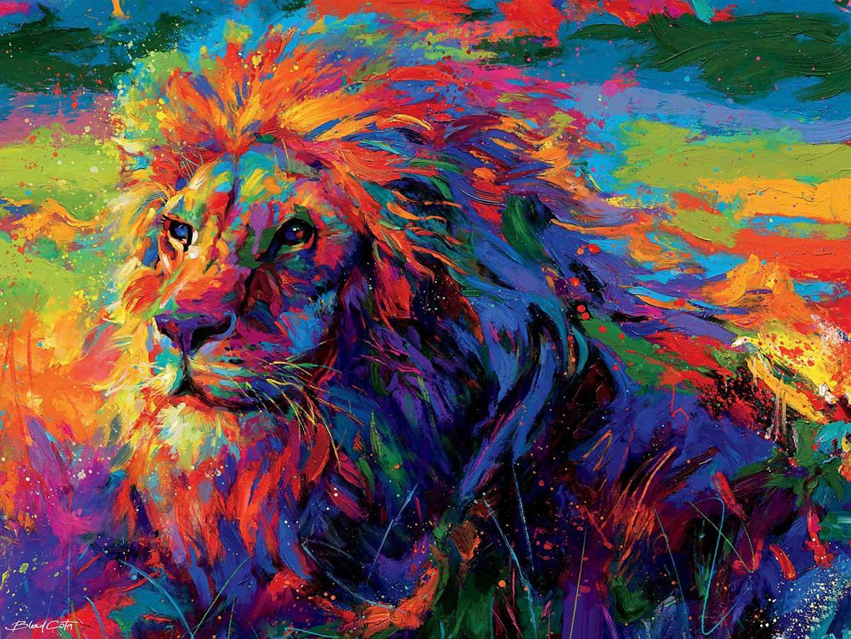 Lion Pride (Blend Cota) Jungle Animals Jigsaw Puzzle