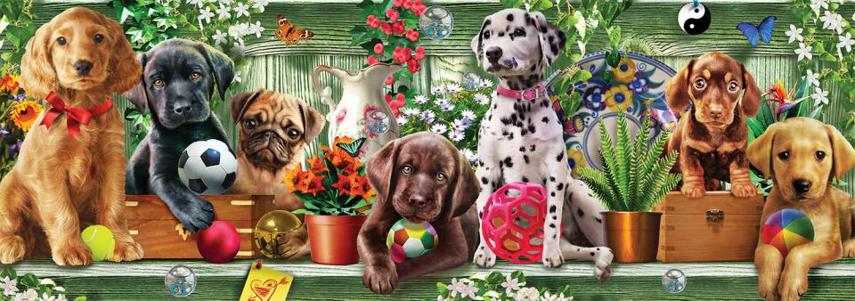 Puppies (Long Shots) - Scratch and Dent Dogs Jigsaw Puzzle
