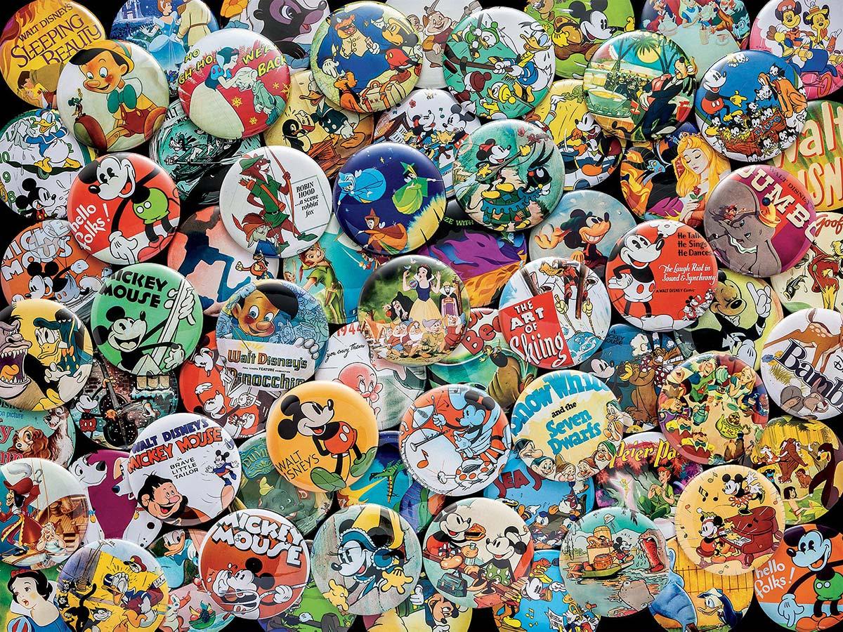 Vintage Buttons Disney Jigsaw Puzzle