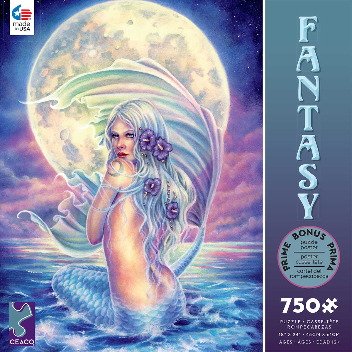 Moon Mermaid Mermaids Jigsaw Puzzle