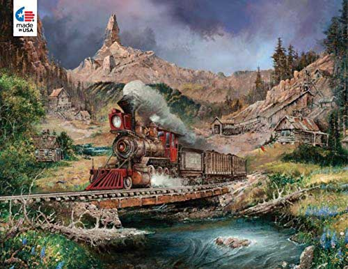 Nuggetville Blue Sky Trains Jigsaw Puzzle