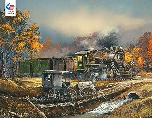 Amish Train Trains Jigsaw Puzzle