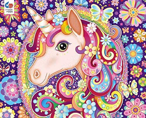 Groovy Animals - Unicorn Unicorns Jigsaw Puzzle