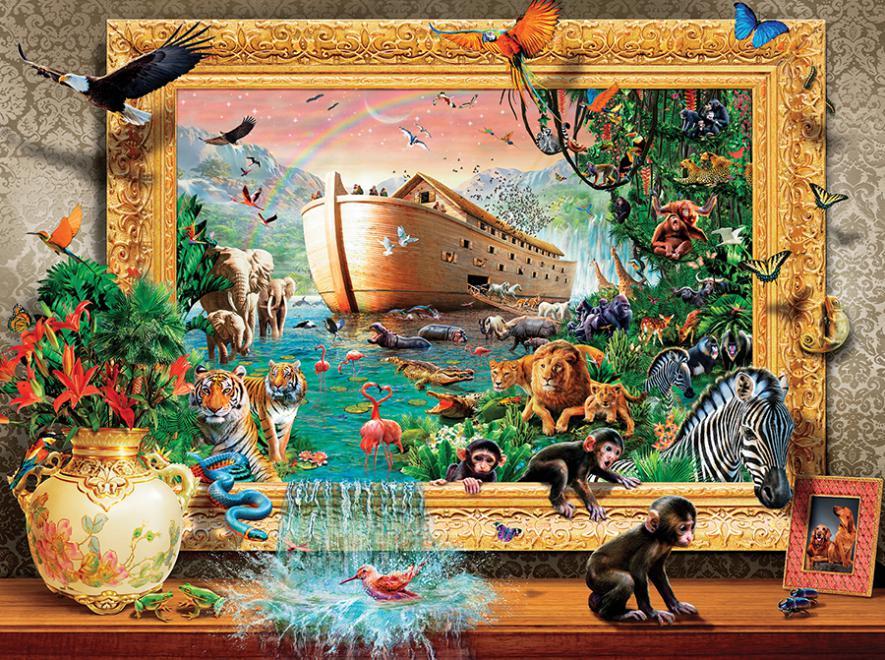 Noah's Arc Framed Animals Jigsaw Puzzle