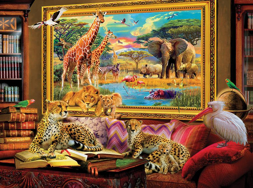 Savannah Coming to Life Jungle Animals Jigsaw Puzzle