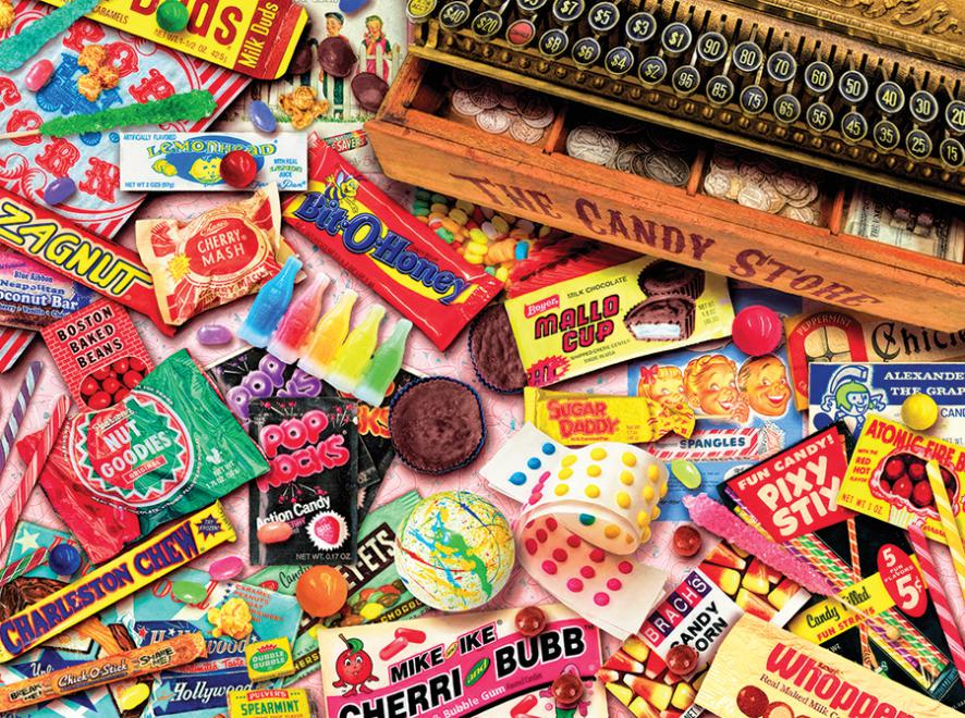 Vintage Candy Shop (Aimee Stewart) Pattern / Assortment Jigsaw Puzzle