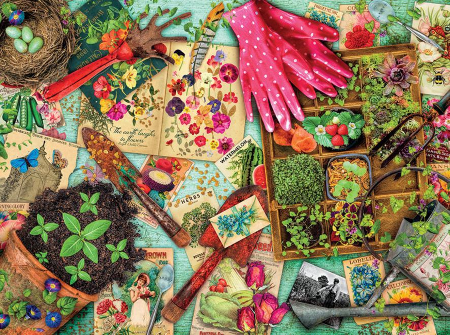 Vintage Garden (Aimee Stewart Vintage) Garden Jigsaw Puzzle