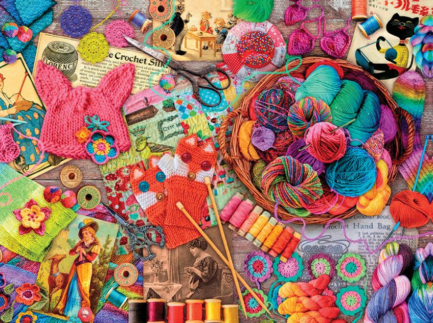 Yarns And Threads Aimee Stewart Vintage Jigsaw Puzzle