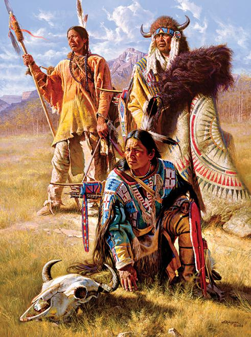 Vision Seekers (Native Portraits) People Jigsaw Puzzle