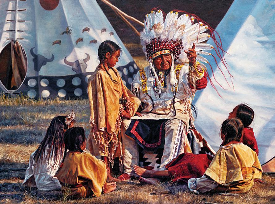 Buffalo Tales (Native Portraits) People Jigsaw Puzzle