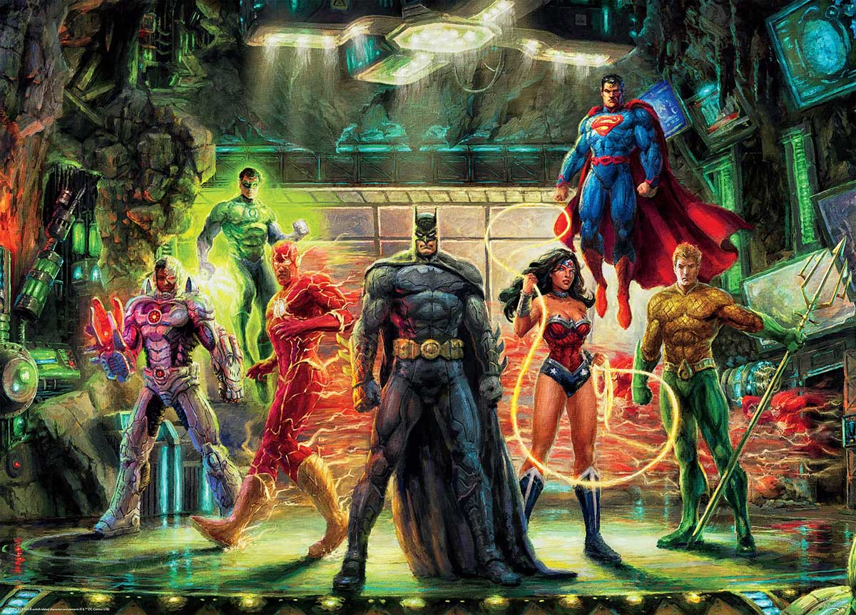 The Justice League Super-heroes Jigsaw Puzzle