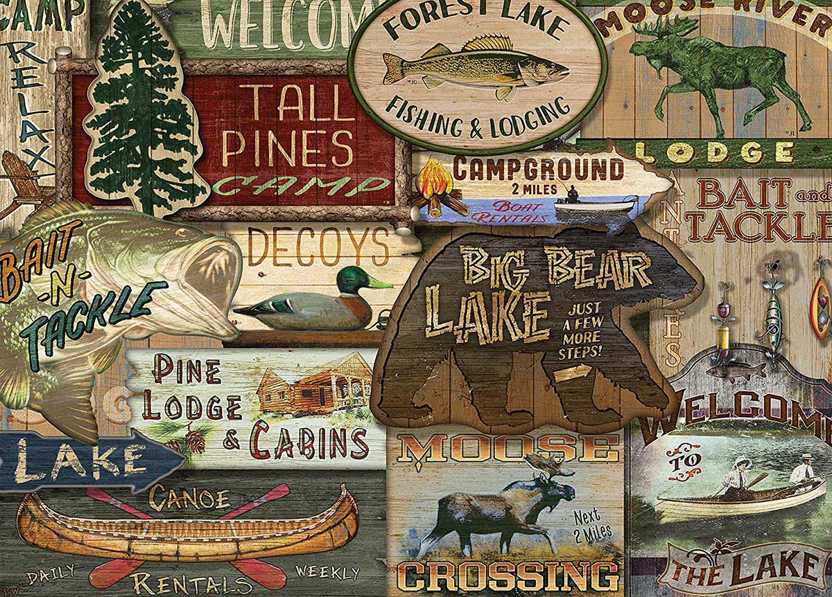 Lodge Signs Cottage / Cabin Jigsaw Puzzle