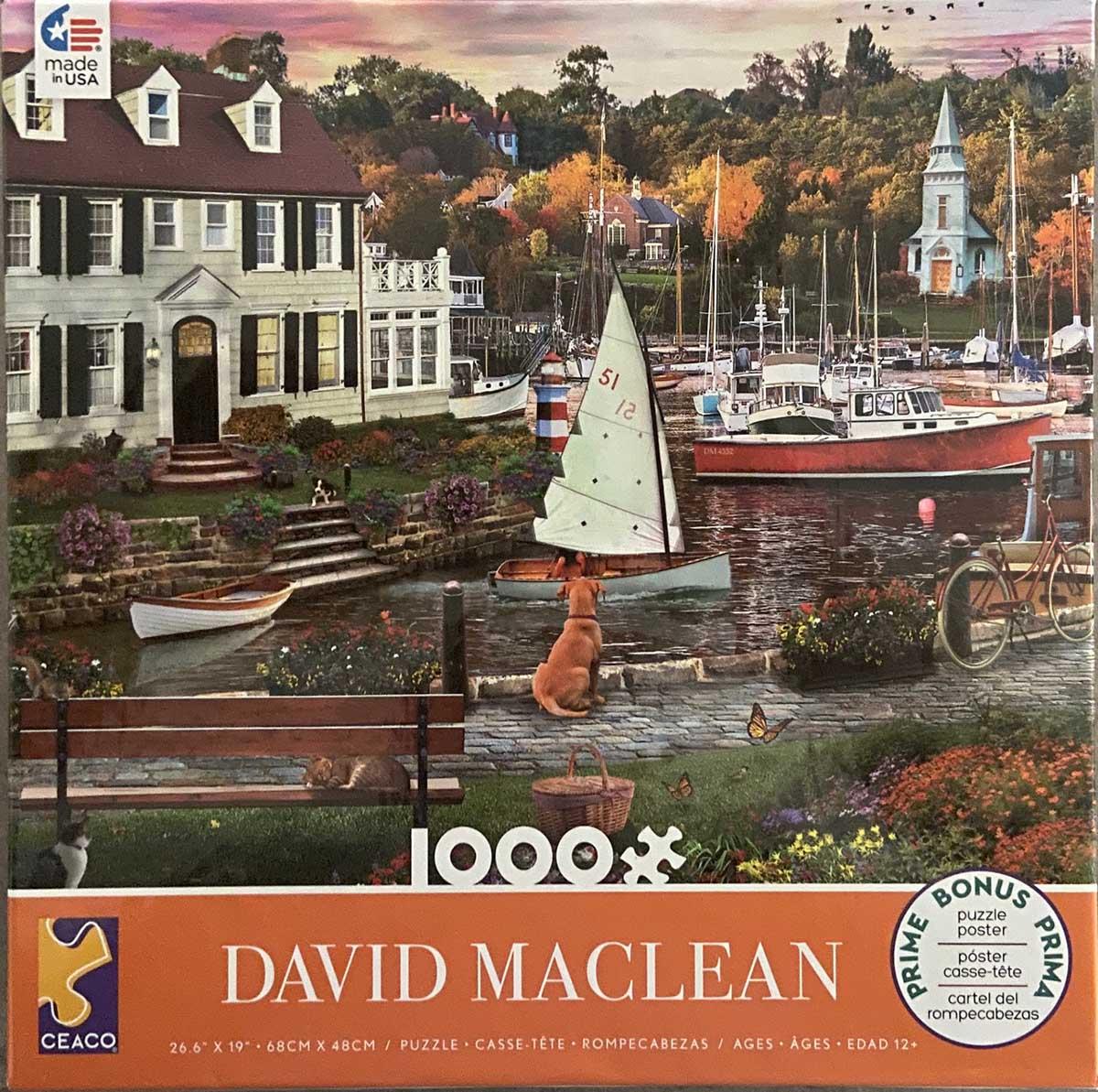 Maclean: Seawall Walk Boats Jigsaw Puzzle