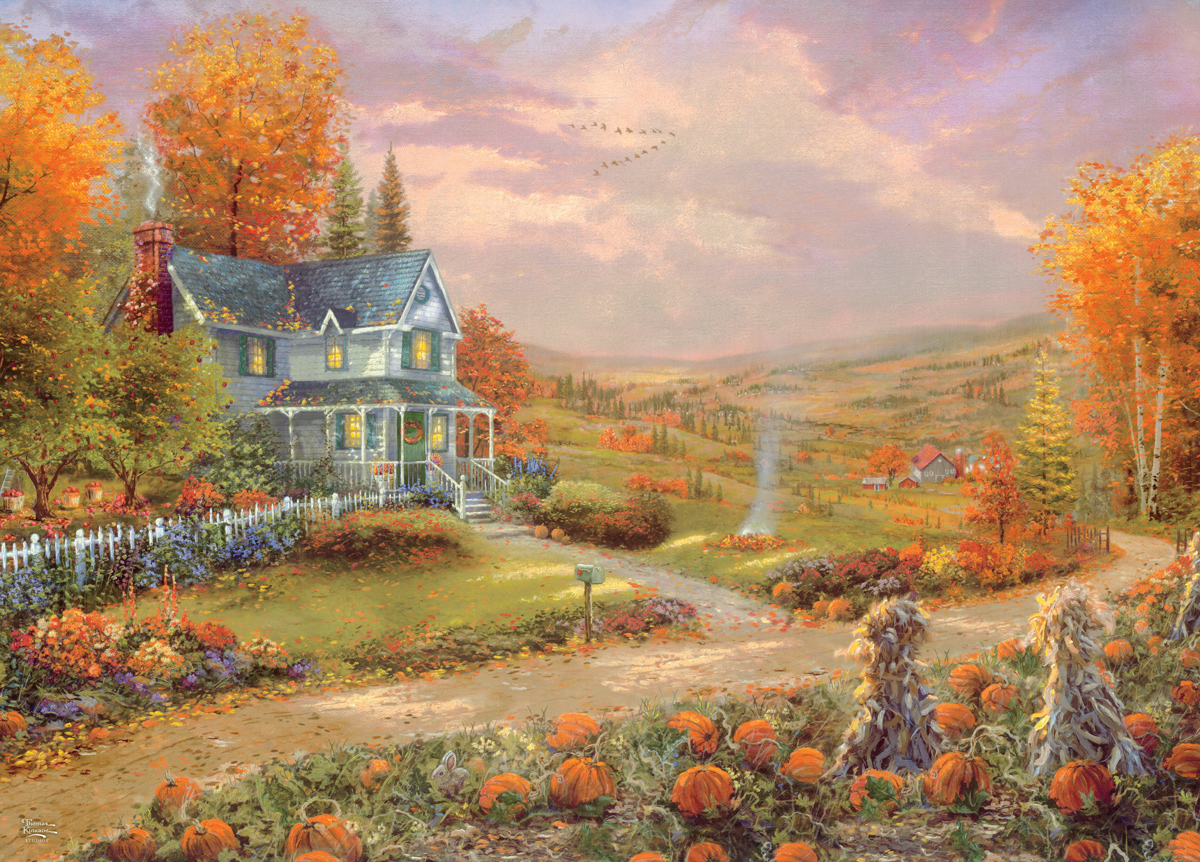 Autumn At Apple Hill Countryside Jigsaw Puzzle