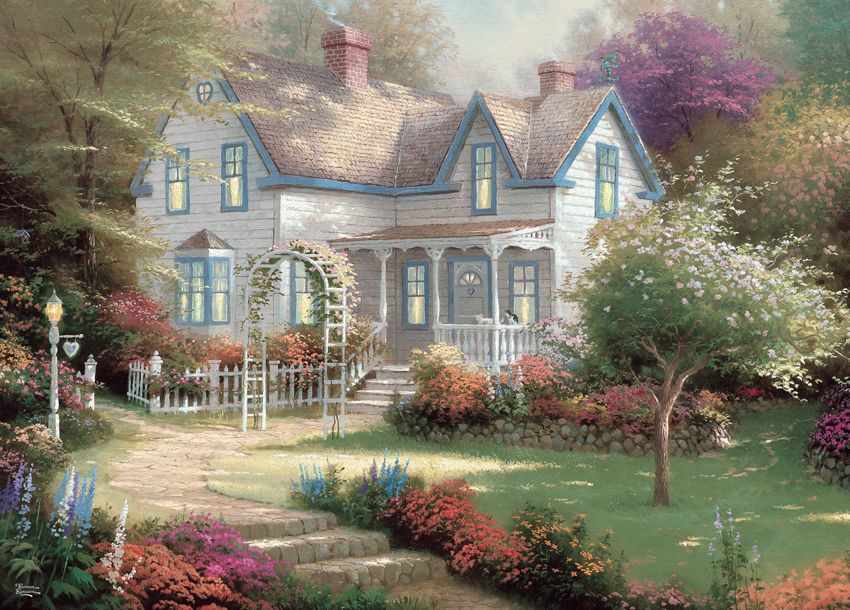 Home Is Where The Heart Is II Domestic Scene Jigsaw Puzzle