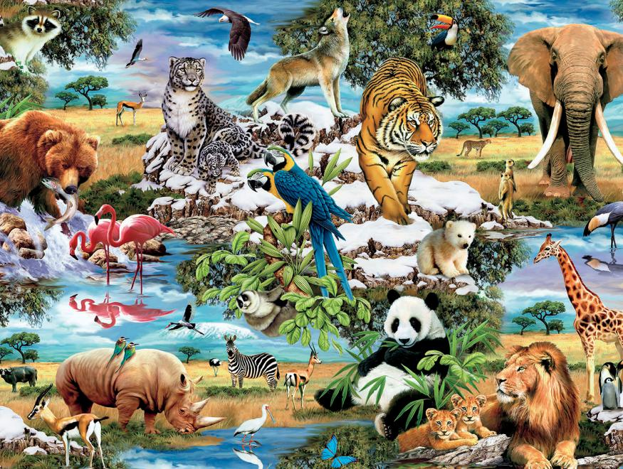 World S Wildlife 1500 Piece Puzzles Jigsaw Puzzle
