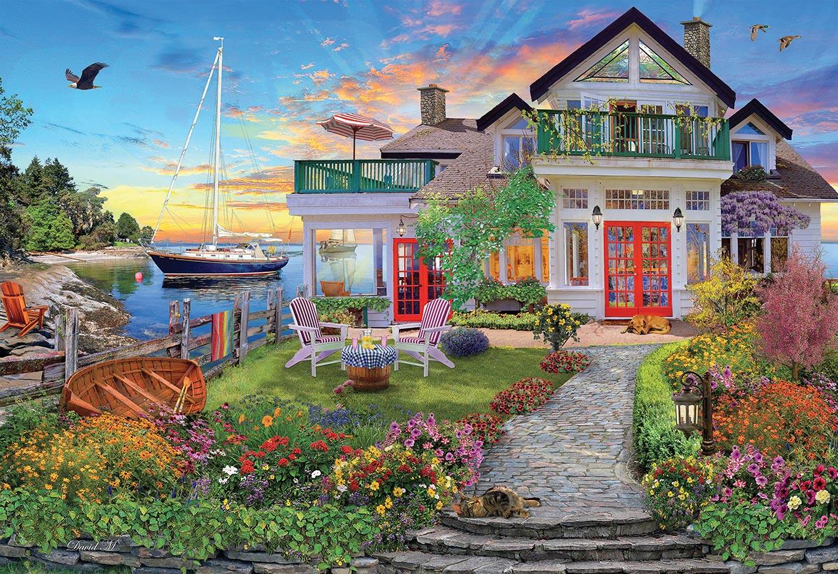 Coastal Escape Boats Jigsaw Puzzle