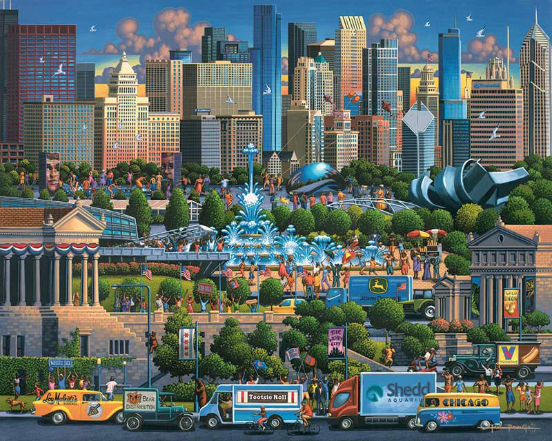 Chicago - Scratch and Dent Travel Jigsaw Puzzle
