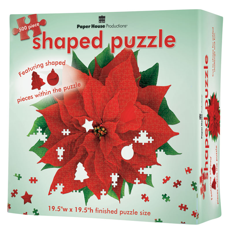 Red Poinsettia Christmas Jigsaw Puzzle
