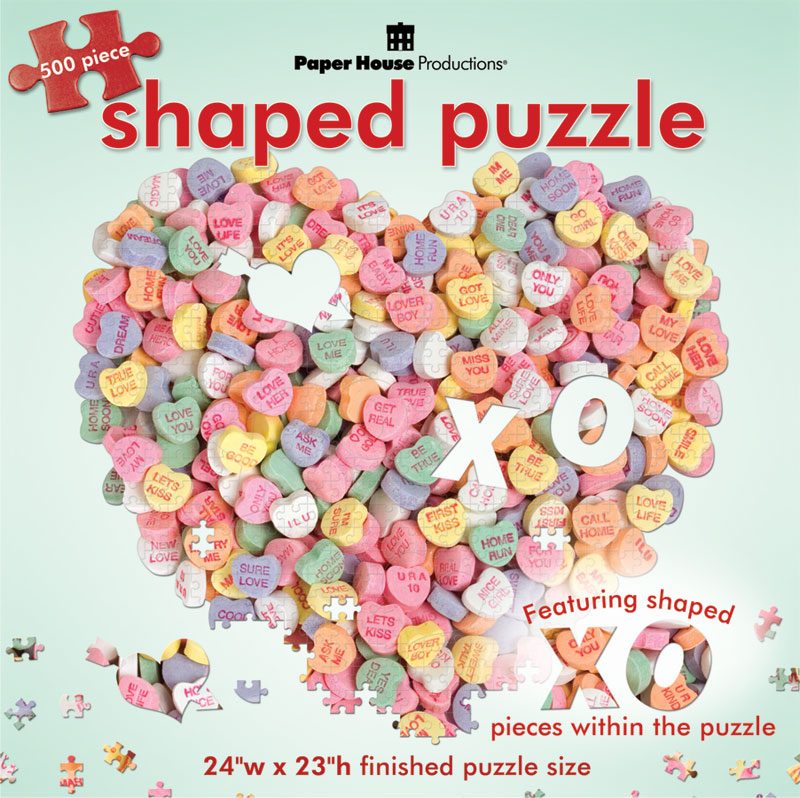 Candy Heart Valentine's Day Jigsaw Puzzle