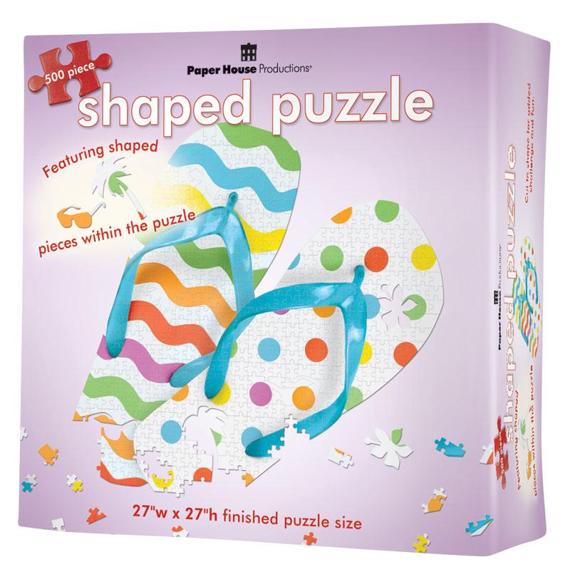Flip Flops 2 Beach Jigsaw Puzzle