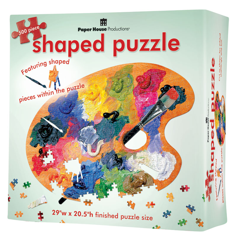 Artist Palette Everyday Objects Shaped Puzzle