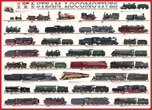 Steam Locomotives Trains Jigsaw Puzzle