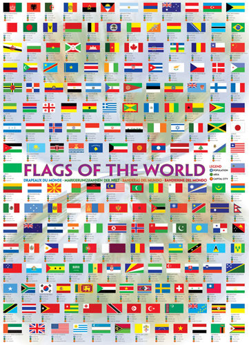 Flags of the World 2008 Travel Jigsaw Puzzle