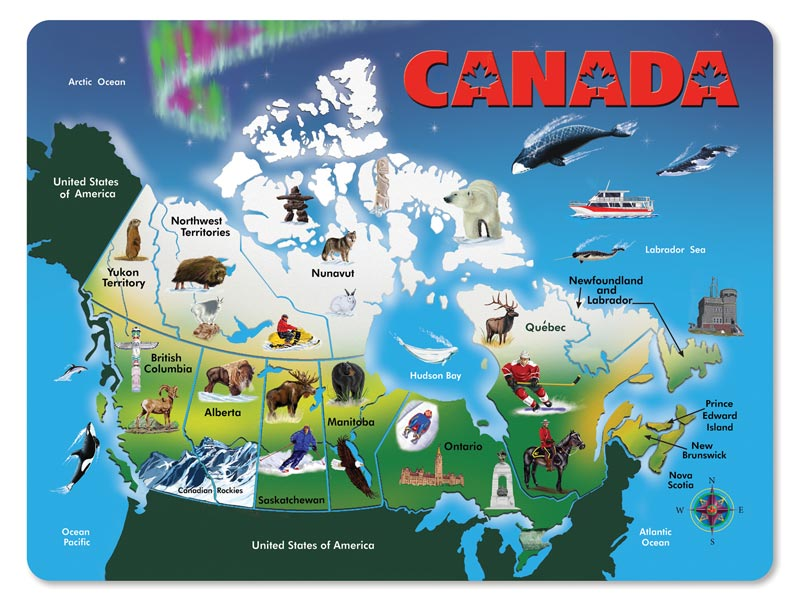 Complete Map Of Canada.Wooden Puzzle Canada Map