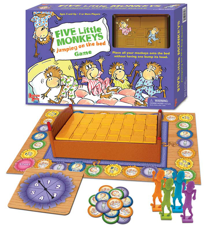 Five Little Monkeys Jumping On The Bed Game Puzzlewarehouse