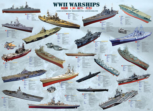 World War II War Ships Boats Jigsaw Puzzle