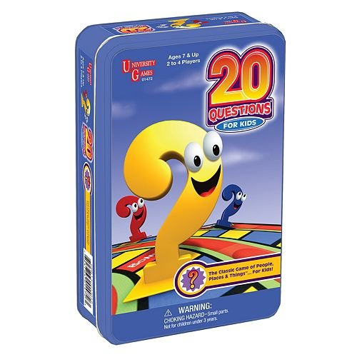20 Questions for Kids - Tin Children's Games Card Game