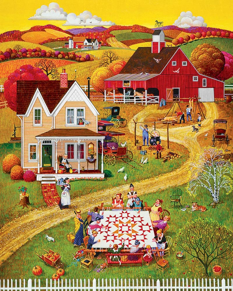 Puzzles to Remember - Quilting Bee's - 36 pc Fall Jigsaw Puzzle