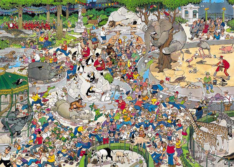 The Zoo Cartoons Jigsaw Puzzle