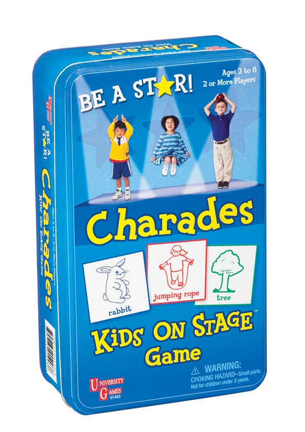 Kids on Stage Charades - Tin Card Game