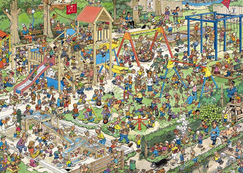 The Playground Cartoons Jigsaw Puzzle