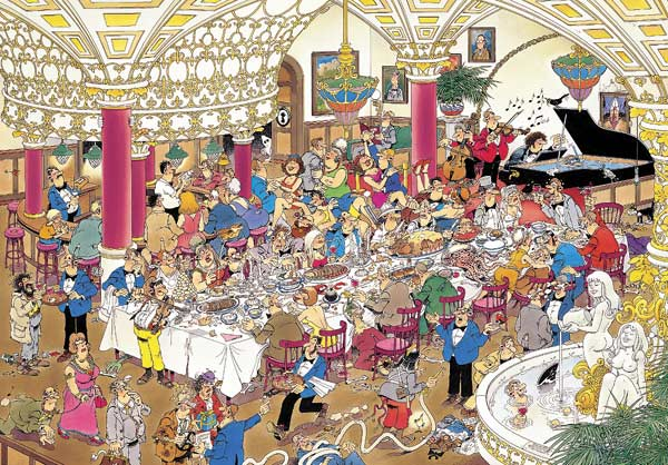 The Wedding - 1000 Cartoons Jigsaw Puzzle