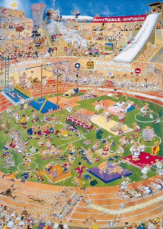 Olympics Cartoons Jigsaw Puzzle