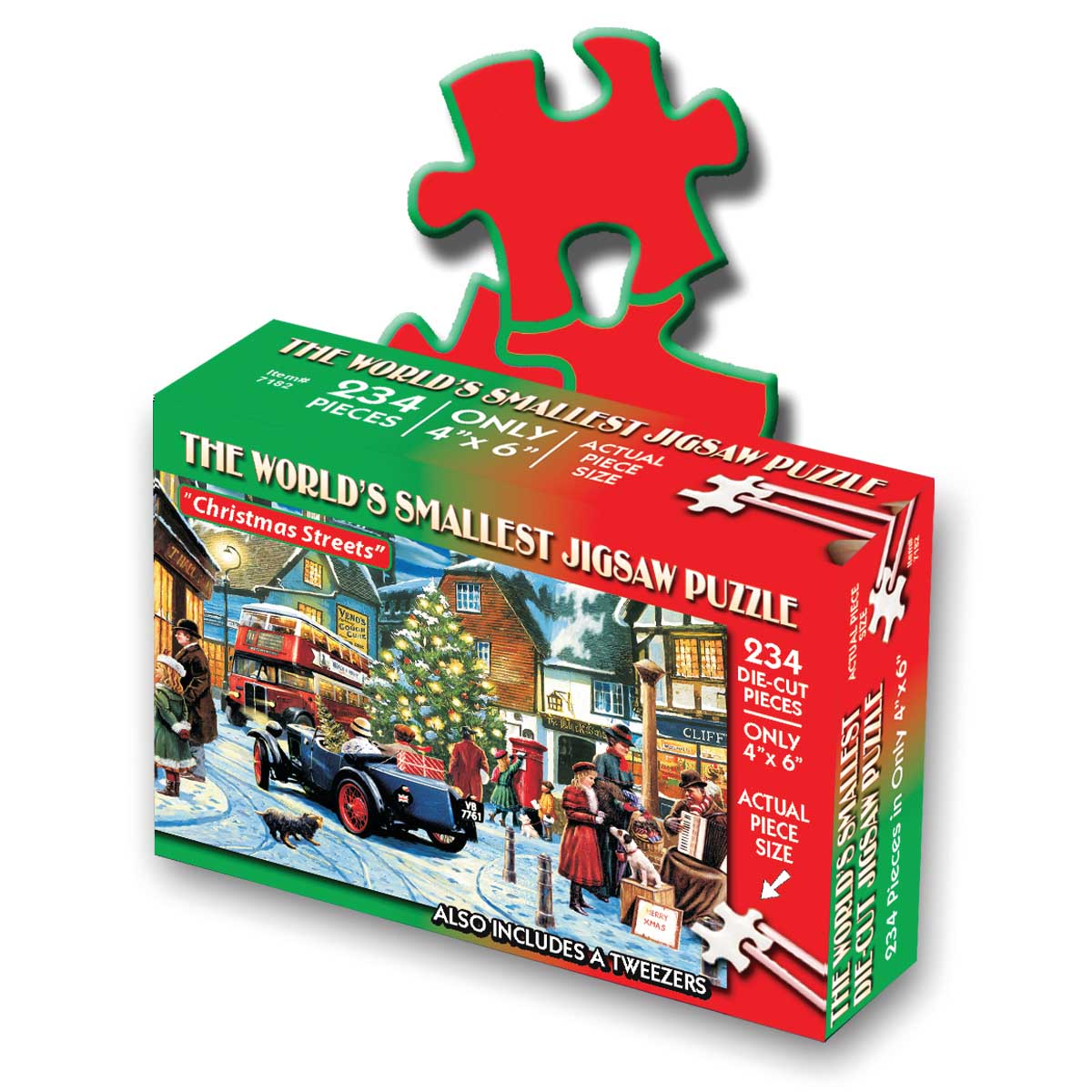 World's Smallest Jigsaw Puzzle - Christmas Streets Christmas Jigsaw Puzzle