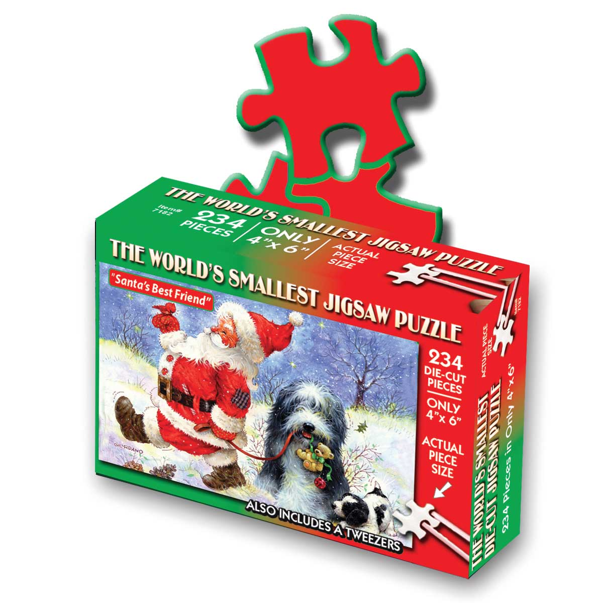 World's Smallest Jigsaw Puzzle - Santa's Best Friend Christmas Jigsaw Puzzle