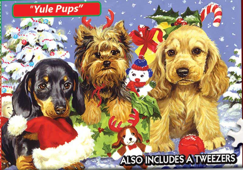 World's Smallest Jigsaw Puzzle -Yule Pups Christmas Jigsaw Puzzle