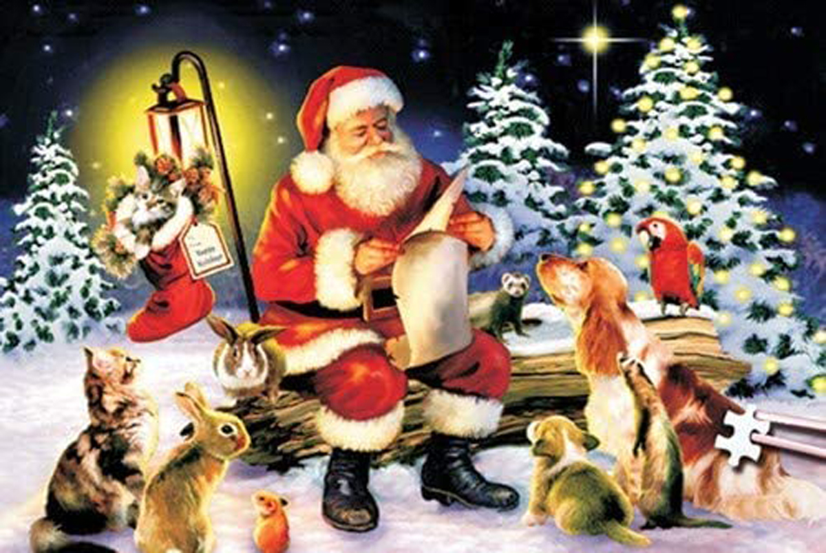 World's Smallest Jigsaw Puzzle -Naughty or Nice Christmas Jigsaw Puzzle