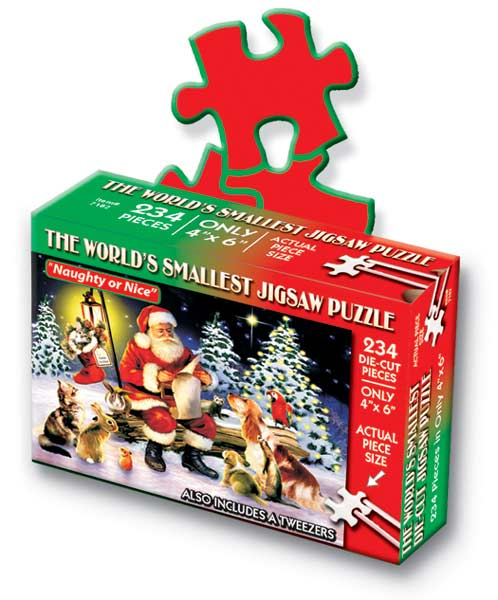 World's Smallest Puzzles Christmas - Naughty or Nice Christmas Jigsaw Puzzle