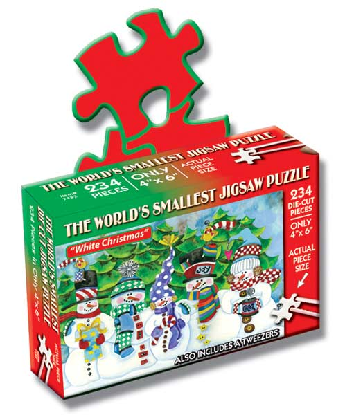 World's Smallest Puzzles Christmas - White Christmas Christmas Jigsaw Puzzle