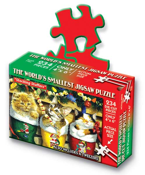 World's Smallest Puzzles Christmas - Stocking Stuffers Christmas Jigsaw Puzzle