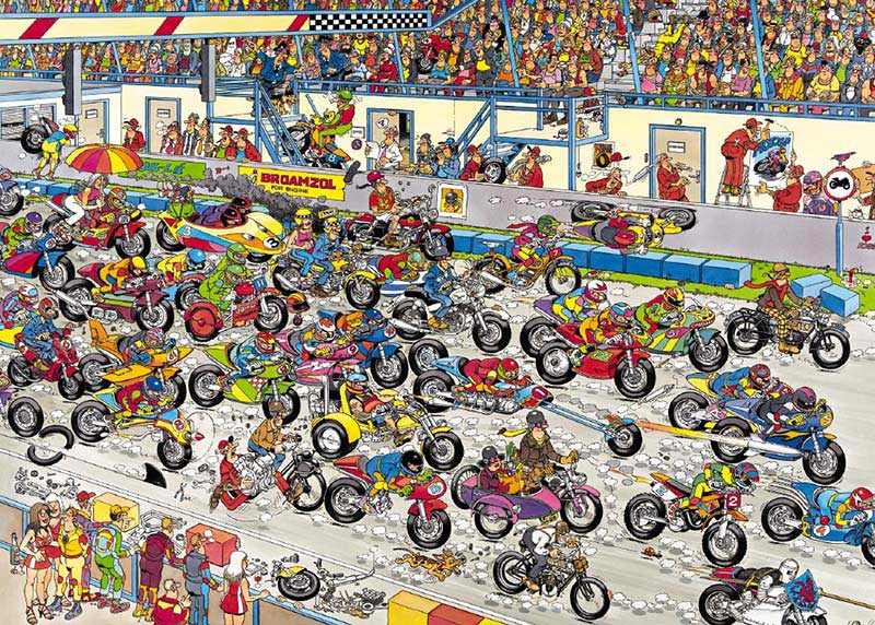 Motorbike Race Motorcycles Jigsaw Puzzle