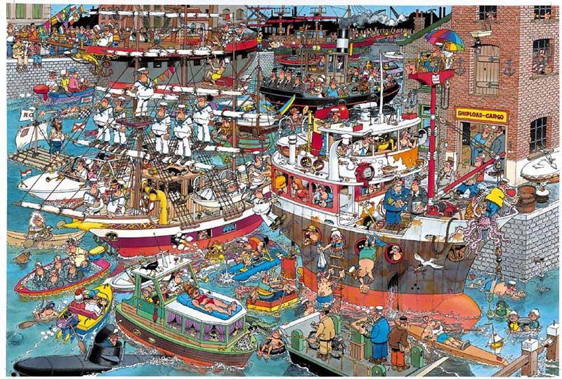 Crazy Harbour - 1,500 Cartoons Jigsaw Puzzle