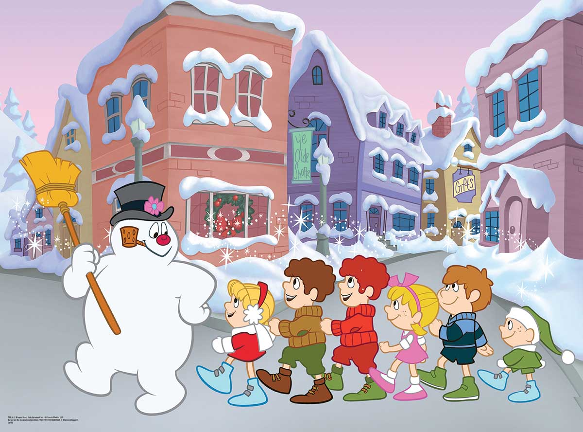 Follow Frosty Snowman Jigsaw Puzzle