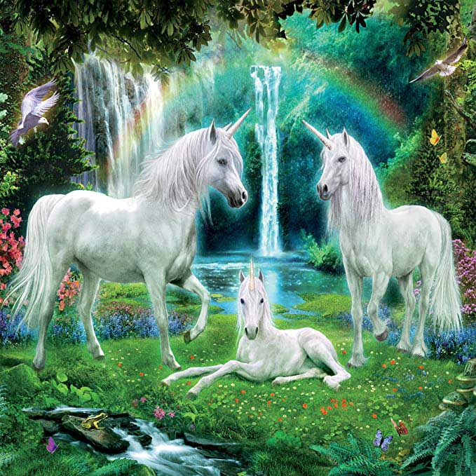Unicorn Family (Glitter) Unicorns Glitter / Shimmer / Foil Puzzles