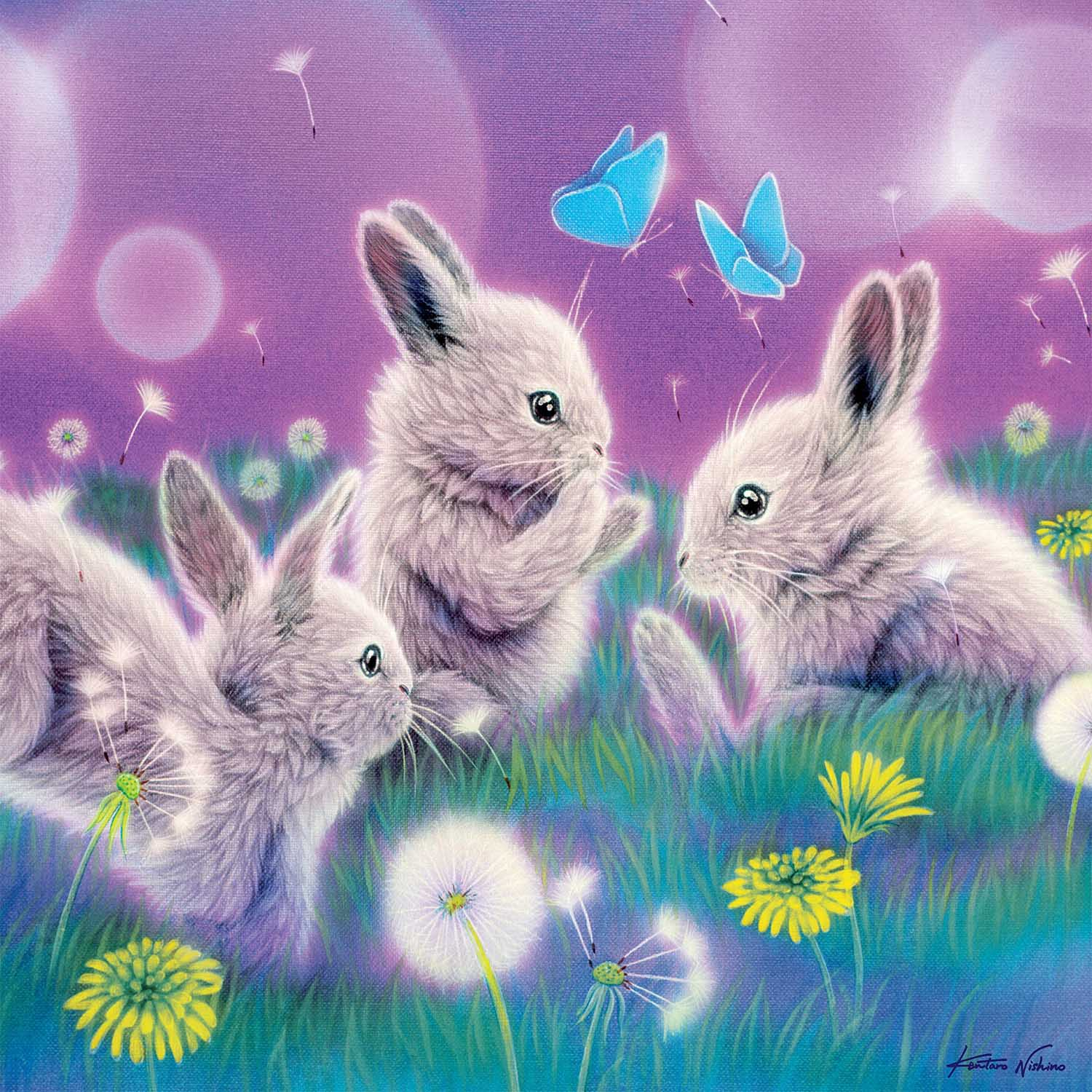 Spring Has Sprung (Glitter) Animals Glitter / Shimmer / Foil Puzzles